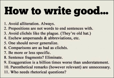 rules of writing for blog