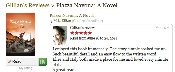 Gillian's Review on Goodreads