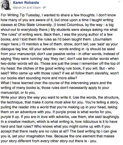 advice from an author